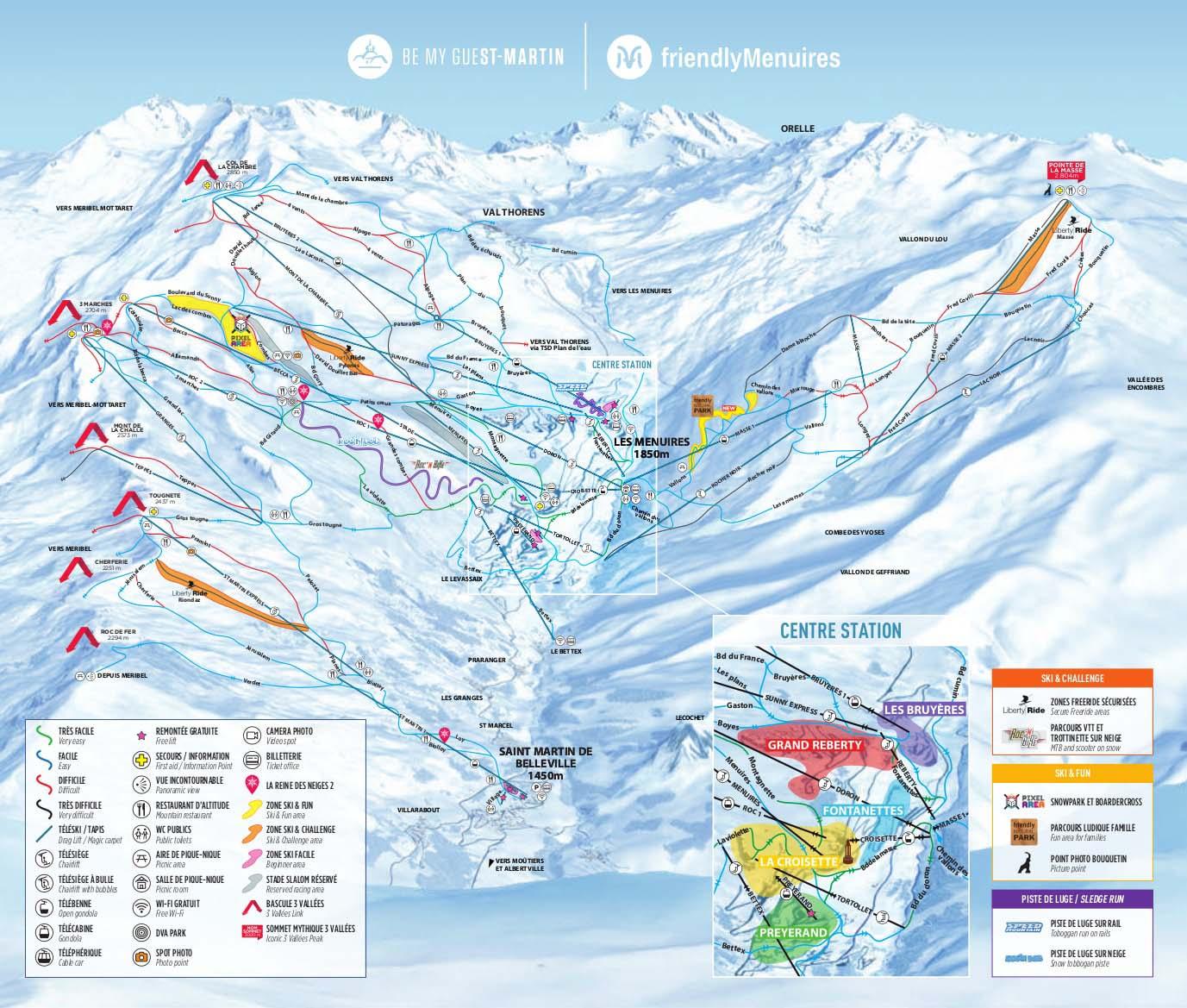 Les Menuires Piste Map