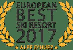Alpe d'Huez, voted Best Ski Resort in Europe!