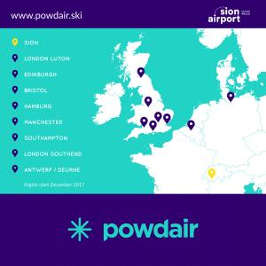 Powdair map
