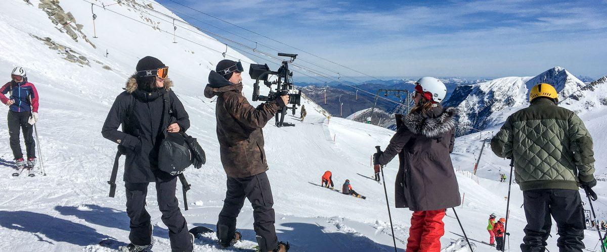 Ed Sheeran video shoot at Hintertux