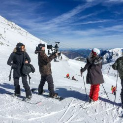 Ed Sheeran video shoot at Hintertux