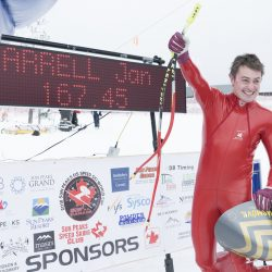 Jan Farrell Has First Podium Place In World Cup Speed Skiing Event In Sun Peaks