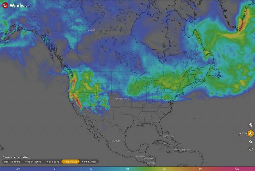 North America snow forecast 10 2 19
