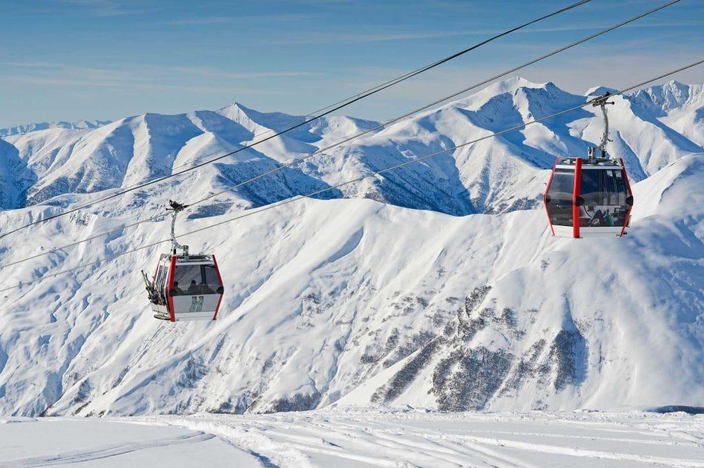 Gondola ski lift in Georgia
