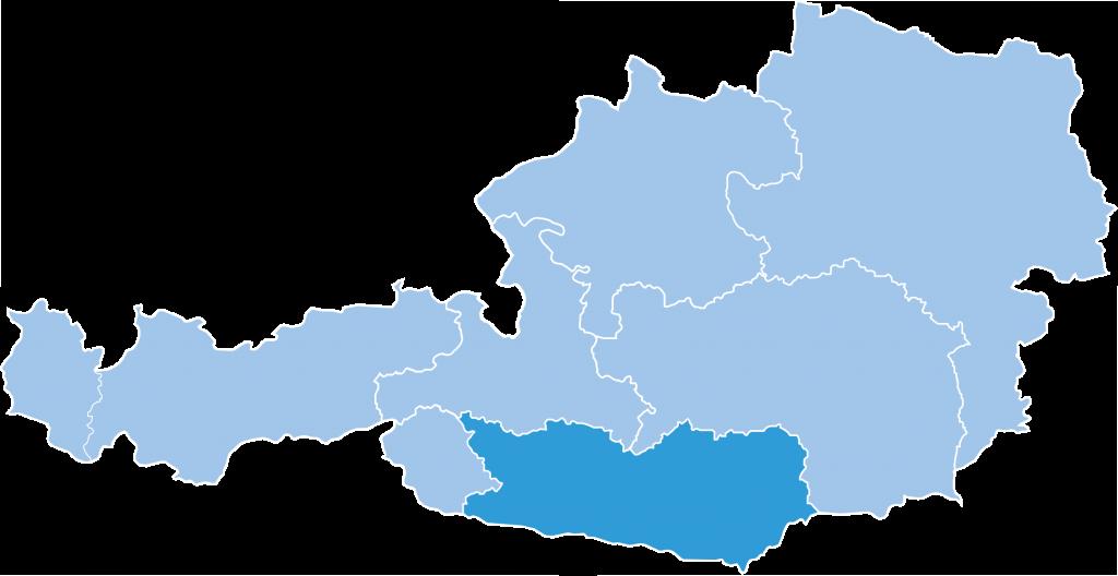 Map of Carinthia ski region in Austria