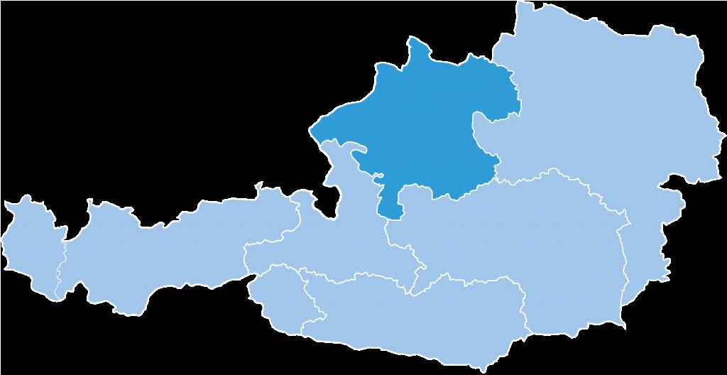 Map of Oberoesterreich ski region in Austria