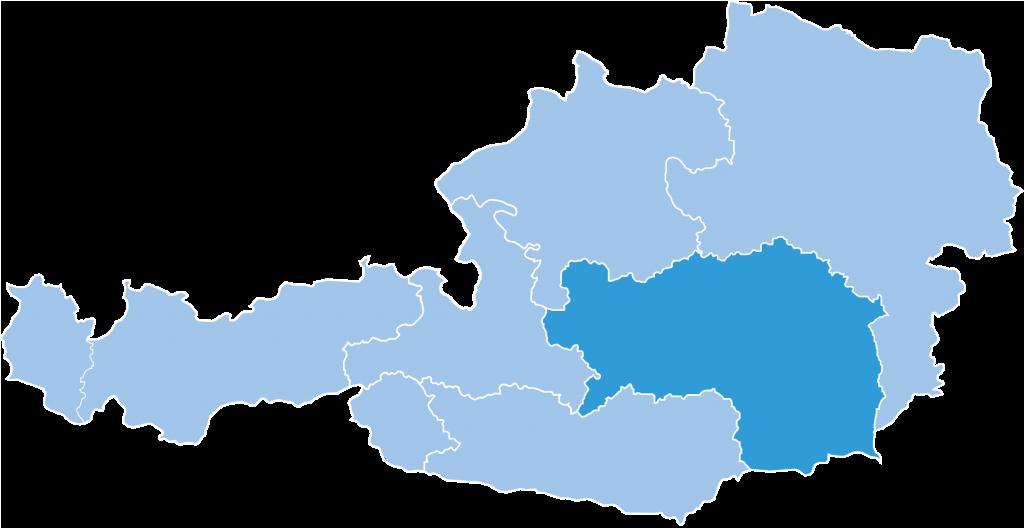 Map of Styria ski region in Austria