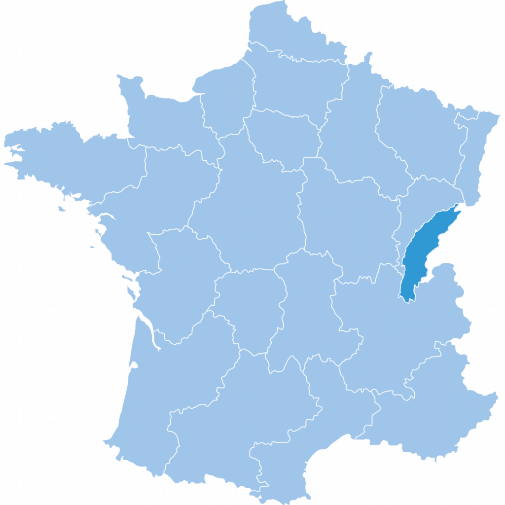 Map of Jura in France