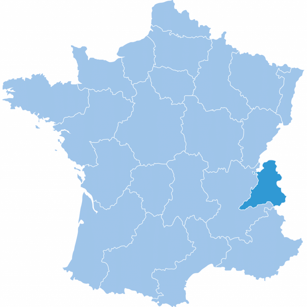 Map of Northern Alps I|n France