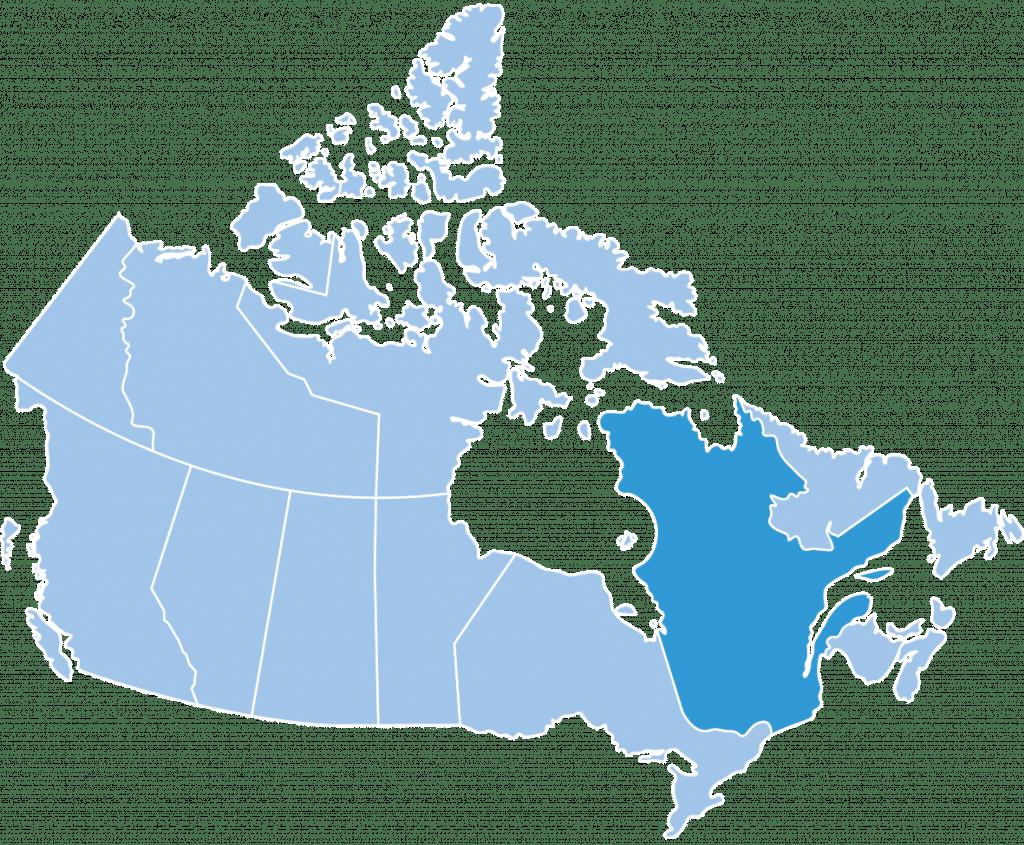 regions canada quebec