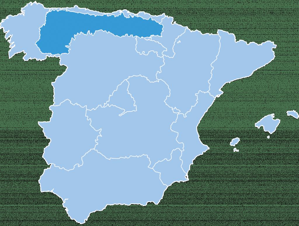 Map of Cantabrian ski region Spain