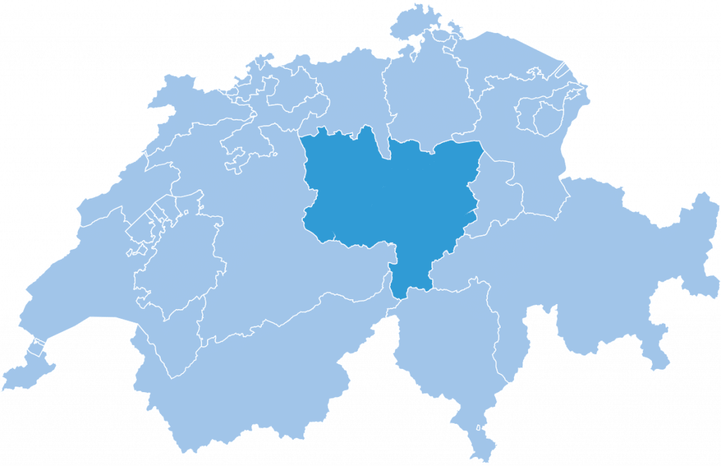 Central Swiss ski region