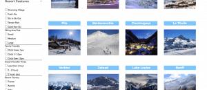 Resort Search filter Screenshot