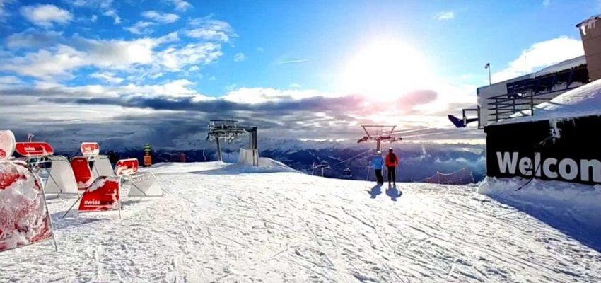 Ski TV visiting the ski resort of Crans Montanta