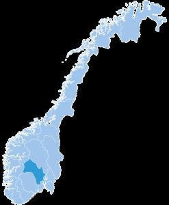 Map of Buskerud ski region Norway