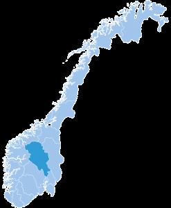 Map of Oppland ski region Norway