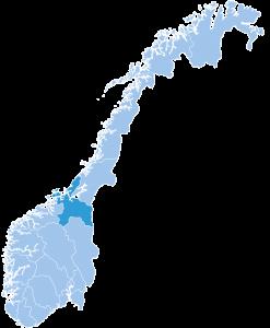 Map of Troendelag ski region Norway