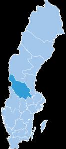 Map of Dalarna ski region Sweden