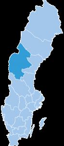 Map of Jaemtland ski region Sweden